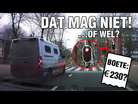Politiebus rijdt vol door rood - DAT MAG NIET!