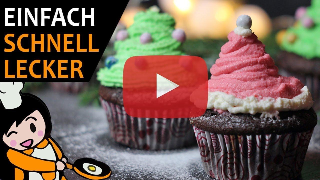 Muffin Tannenbaum.Tannenbaum Und Nikolausmützen Muffins Rezept Videos