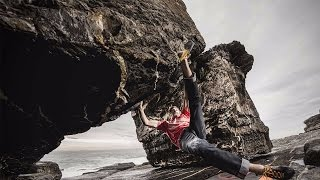 James Pearson And Caroline Ciavaldini Bouldering and Trad Climbing Roca Verde, Spain