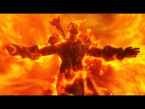 World of Warcraft Extinction (Sargeras Sword Impact Cinematic , End of Legion)