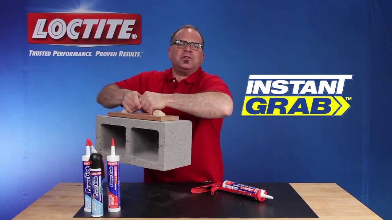 Loctite Power Grab Heavy Duty : Construction adhesive loctite power grab heavy duty youtube
