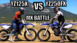 Which one is faster?? 2020 Yamaha YZ250FX VS YZ125X
