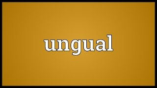 ungual meaning