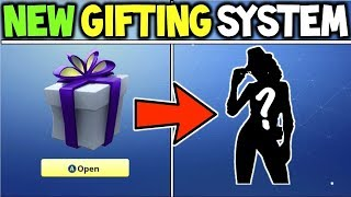 NEW GIFTING SYSTEM IN FORTNITE BATTLE ROYALE !!