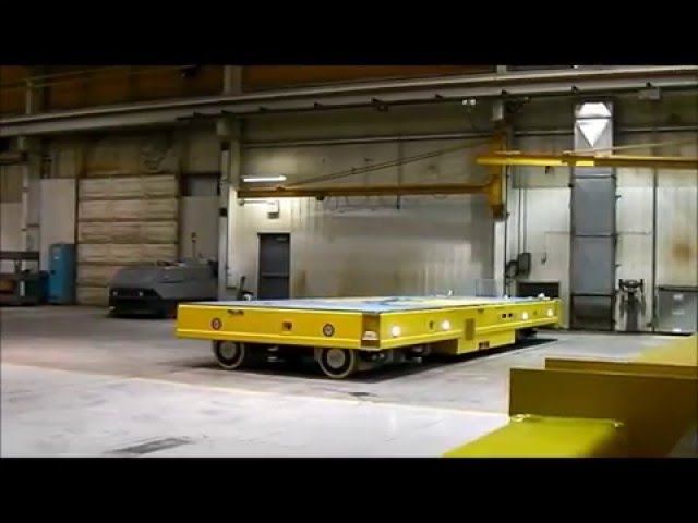 Savant Omni-Directional Heavy AGV Transporter -- Crab Steering
