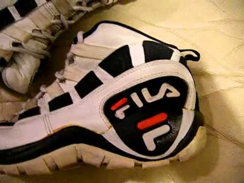 Vintage Fila Muscle Ball 1996 Basketball shoes used size 8, video ...