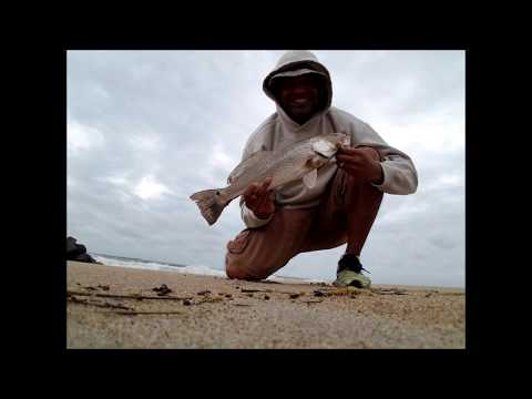 Virginia beach surf fishing first redfish of 2017 youtube for Surf fishing virginia beach
