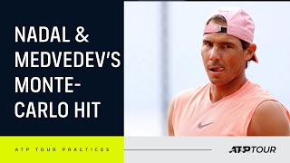 INTENSE Nadal & Medvedev Practice Points In Monte-Carlo