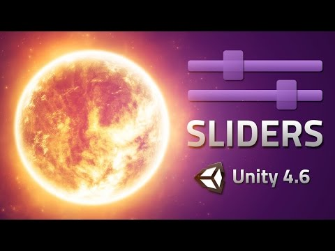 Slider Events - Change things with sliders - Unity 4.6 Tutorial