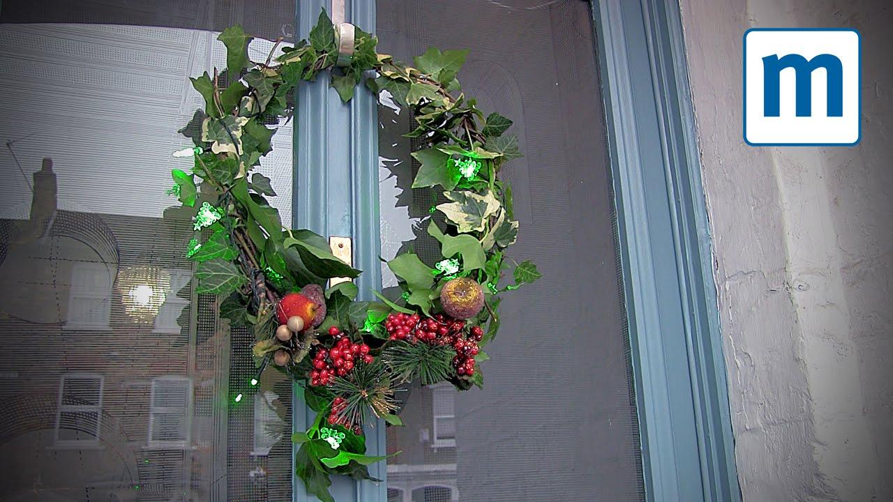 super easy homemade christmas wreath youtube