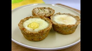Тарталетки с начинкой - пп рецепт | Диетические тарталетки с сыром, курицей и яйцом