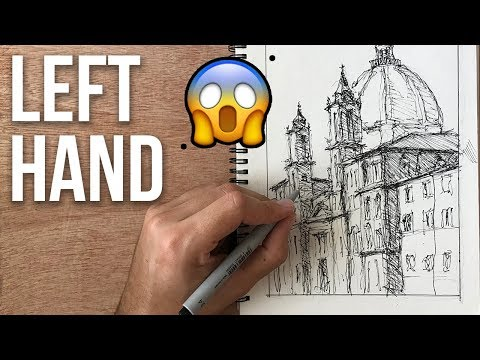I Try Drawing With my LEFT HAND | Sketching Experiment