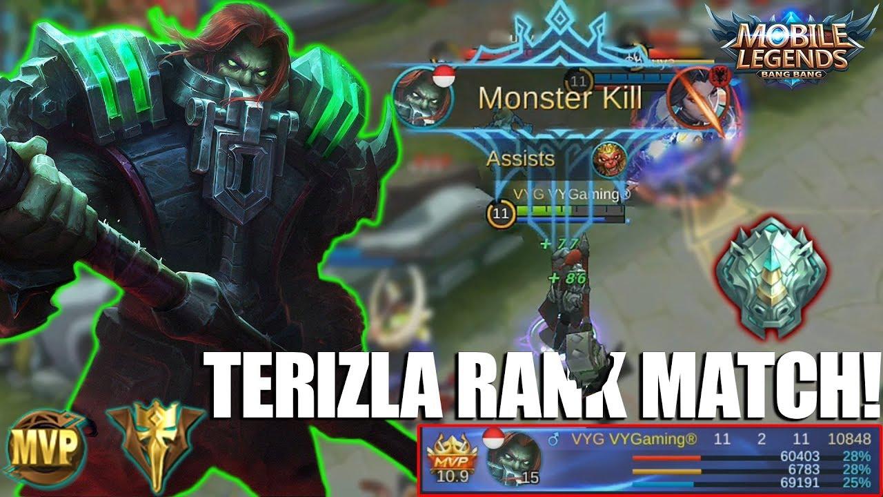 TERIZLA RANK MATCH TEST - TERBUKTI KALAU HERO INI SANGAT OP !!! MOBILE LEGENDS