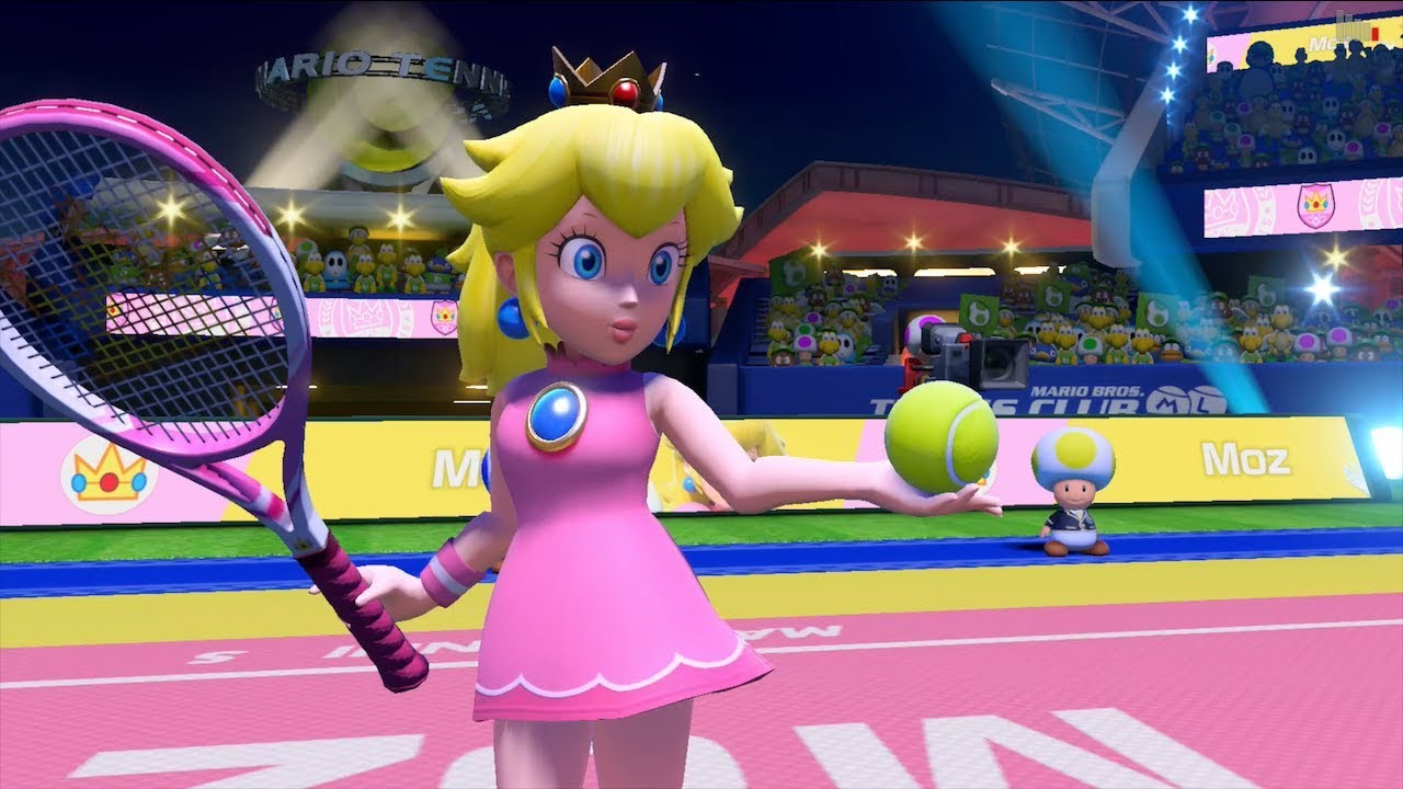 Mario Tennis Aces - Peach Gameplay (1080p60HD) - YouTube