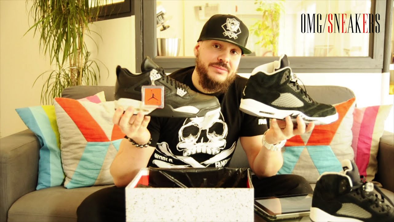 AIR JORDAN 4 OREO ON FEET REVIEW UNBOXING - French - YouTube 580ba0483