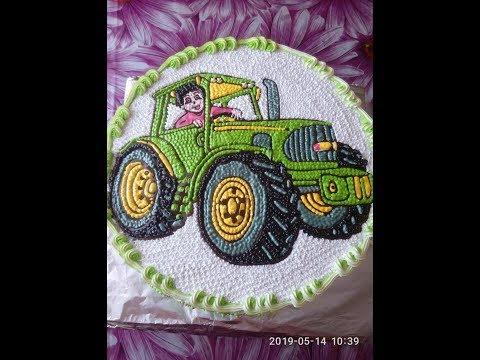 "Торт-раскраска ""Трактор"" Cake-coloring ""Tractor"""
