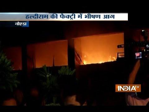 Fire breaks out at Haldiram's factory in Noida sector 68