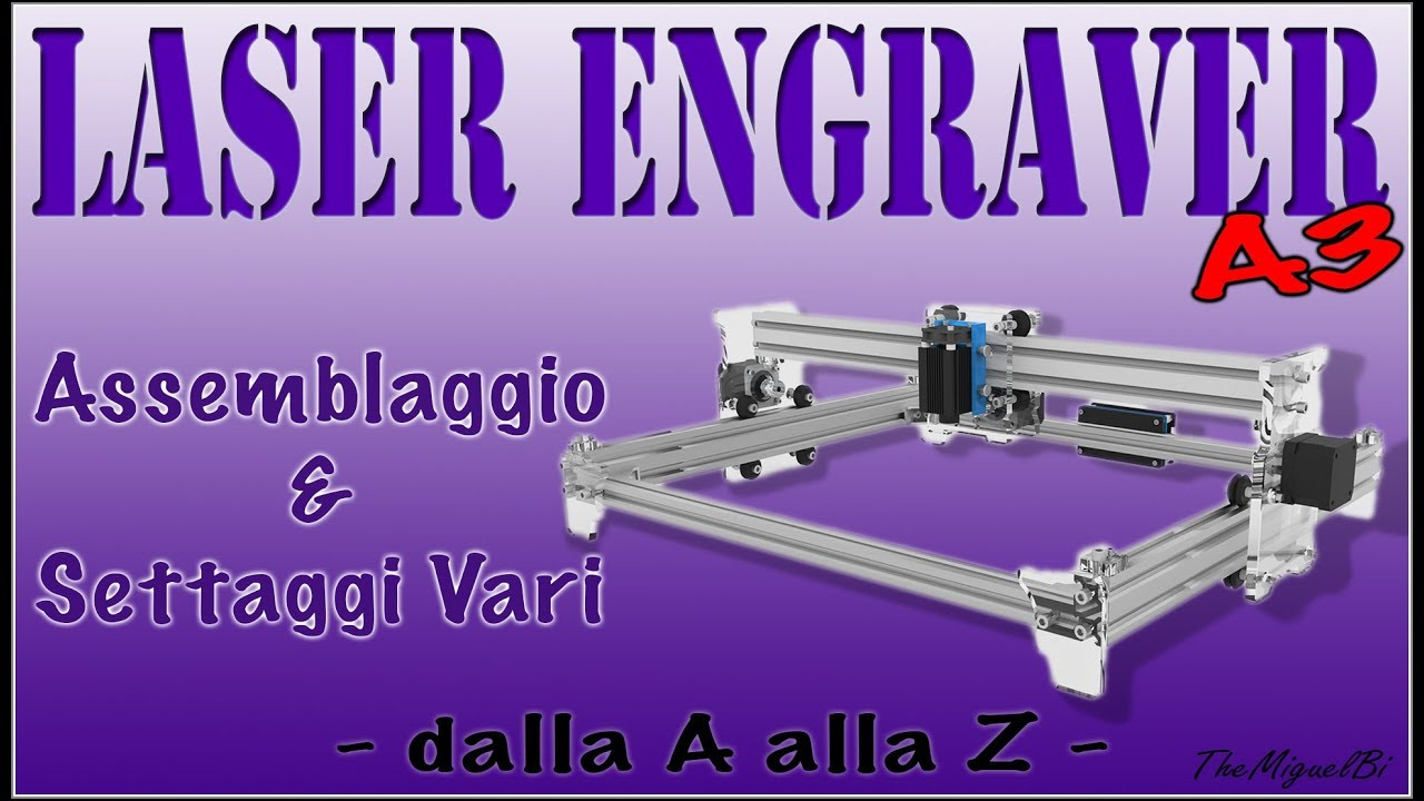 Eleksmaker A3 laser engraver with 60mm Z-axis conversion by