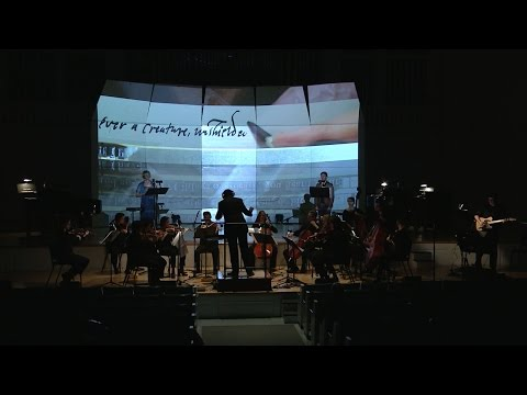 Human Moments (a song set for large chamber ensemble and multimedia on the poetry of Brett Foster