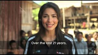 Pia Miller and Qantas celebrate 21 year anniversary of UNICEF Change for Good Top 10 Video