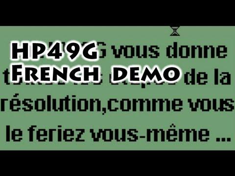 HP calculators: HP49G French Demo - Gaak