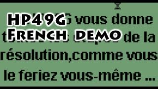 HP calculators: HP49G French Demo - Gaak