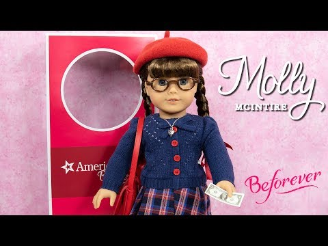 American Girl BeForever Molly McIntire Doll, Molly's Accessories And Molly's Write To Sleep Pajamas