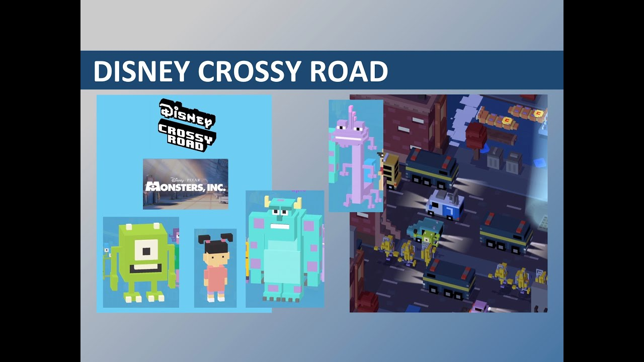 Disney Crossy Road Monsters, Inc  World (feat  Boo, Mike, Sulley, Randall)  Gameplay by OINK OINK TOY REVIEWS