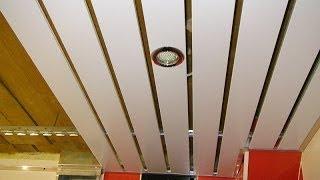 видео Реечный потолок в ванной комнате: фото и инструкция по установке
