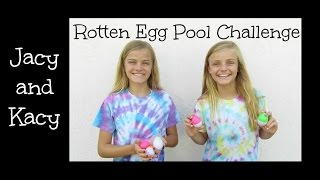 Rotten Egg Pool Challenge ~ Jacy and Kacy