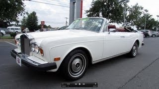 1979 Rolls Royce Corniche Convertible Start Up, Exhaust, and In Depth Review