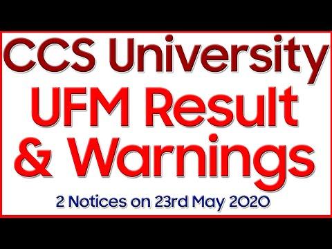 Result Of UFM Cases   CCS University