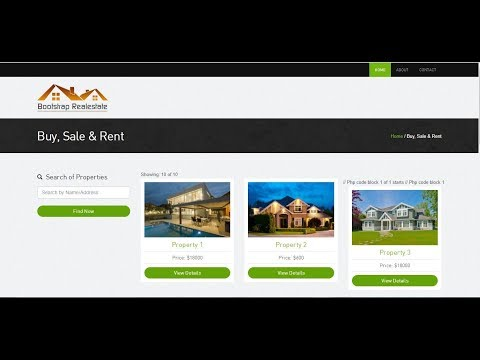 Easy Real Estate project with PHP OOP and MySql