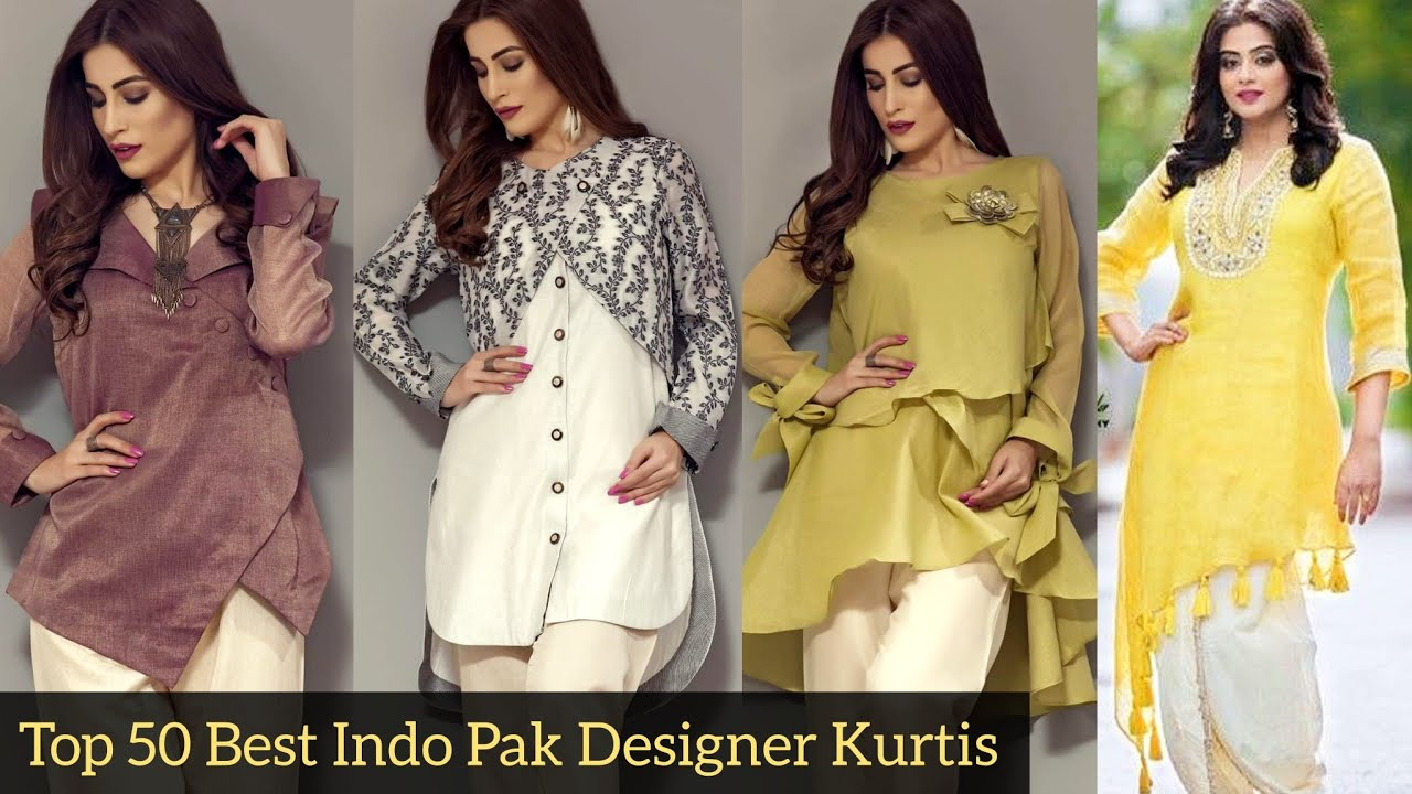 Top 50 Best Designer S Kurtis Collection With Useful Neck Sleeves Daman Trousers Designs Ideas Youtube