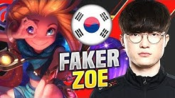 FAKER CHILLING WITH ZOE! - SKT T1 Faker Plays Zoe Mid vs Nocturne! | KR SoloQ Patch 10.10