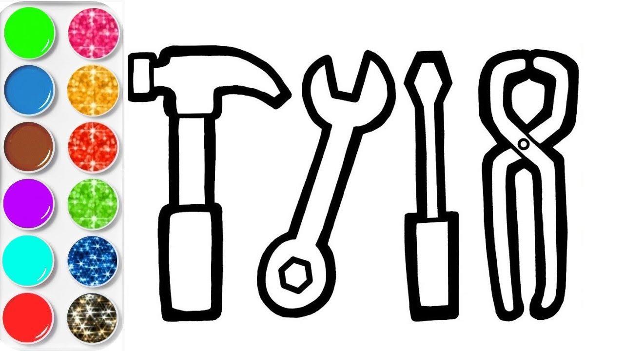 Dessiner facilement des outils et les colorier dessin et coloriage plan te coloriage youtube - Coloriage youtube ...