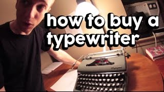 How to Buy a Typewriter