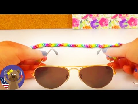 81368b2771 How to make a loom band strap for sunglasses  - YouTube