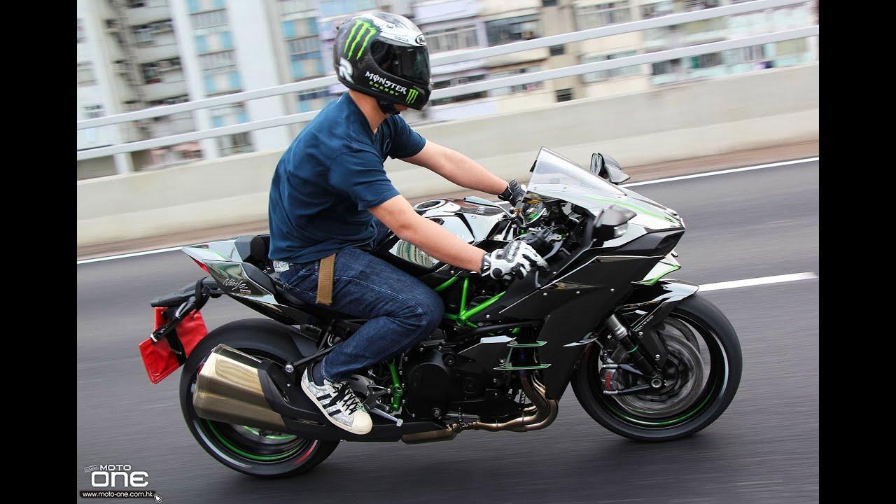 Kawasaki Ninja H2r >> KAWASAKI H2-沒法形容的強勁加速力 - YouTube