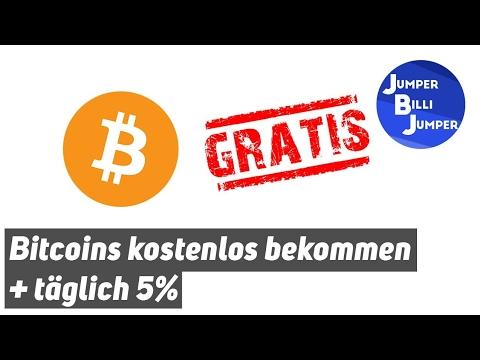Bitcoins kostenlos bekommen + täglich 5%