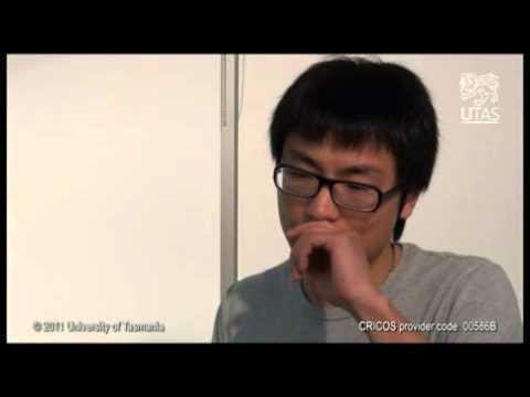 Student on film from University of Tasmania