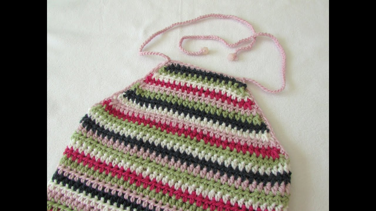 How To Crochet An Easy Halter Neck Top Any Size Youtube