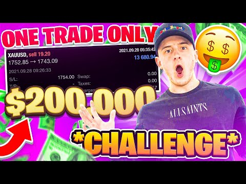 PASSING FTMO $200,000 Trading Gold In Forex | ONE TRADE ONLY!