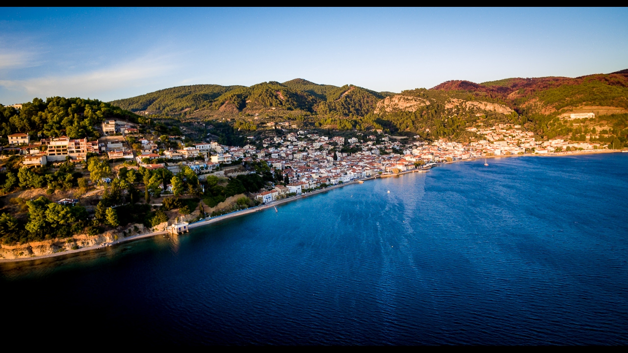 Aerial view of Nea Stira in Evia, Greece - YouTube |Evia