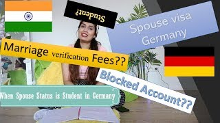 Student Spouse visa Germany for Indians|Family Reunion visa