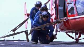 Hitting a moving target: helicopter takeoff and landing training at sea