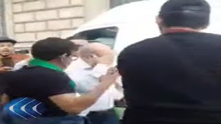 شاهد.. لحظة محاصرة وطرد أبو جرة سلطاني من شباب الجالية الجزائرية في باريس