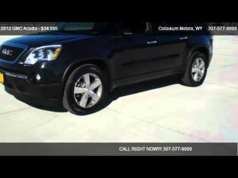 2012 gmc acadia slt 1 for sale in casper wy 82609 youtube for Coliseum motor company casper wy