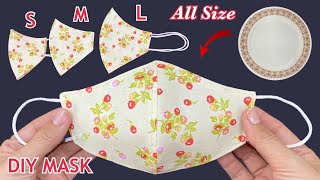 New Trending Diy Breathable Face Mask All Size S M L Create Easy Pattern From Dish Sewing Tutorial