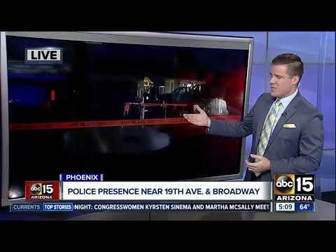 Police investigating scene near 19th Avenue and Broadway Road